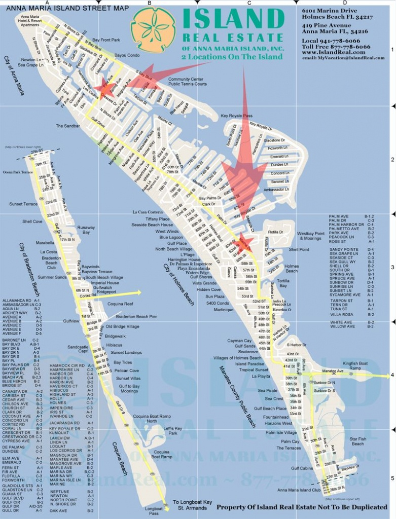 Map Of Anna Maria Island - Zoom In And Out.   Anna Maria Island In - Sarasota Beach Florida Map