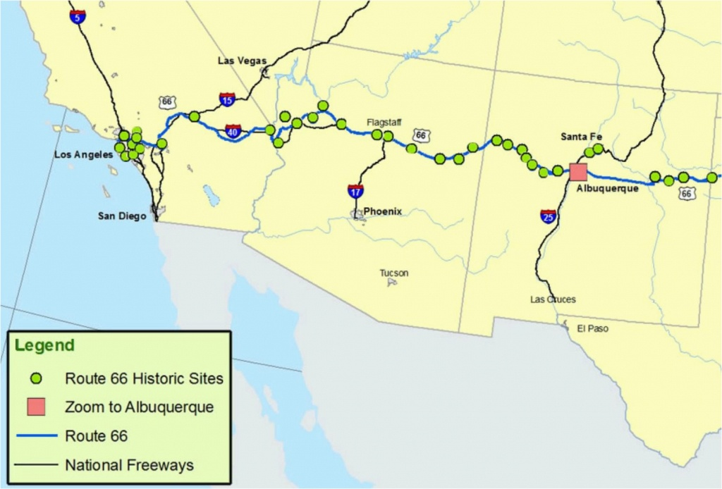 Map Of Arizona New Mexico And Texas Maps Of Route 66 Plan Your Road - Route 66 Texas Map