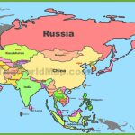 Map Of Asia With Countries And Capitals   Printable Map Of Asia With Countries And Capitals
