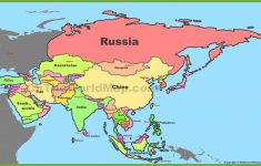 Map Of Asia With Countries And Capitals – Printable Map Of Asia With Countries And Capitals