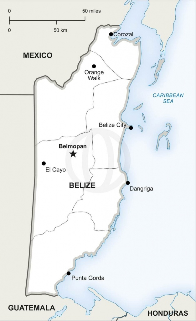 Map Of Belize Political | Maps & Charts | Map Of Belize, Map Vector, Map - Printable Map Of Belize