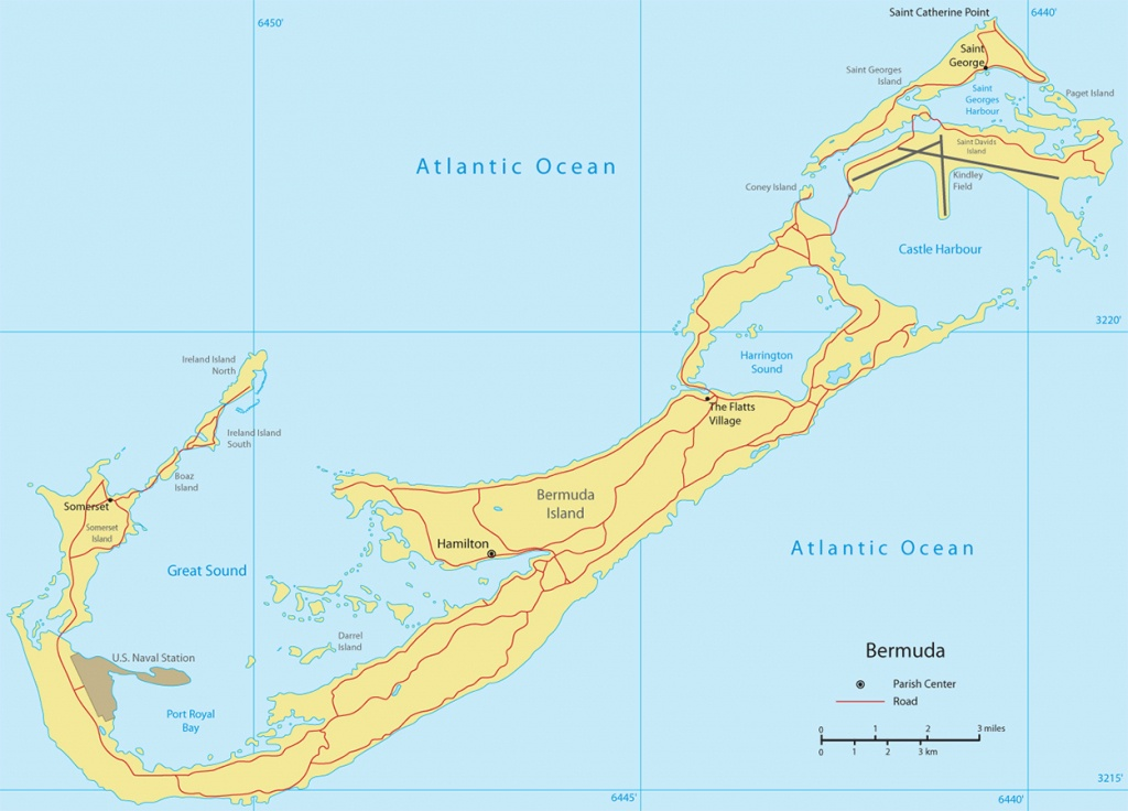 Map Of Bermuda Traiangle Printable Beaches Tourist Satellite Free - Printable Map Of Bermuda