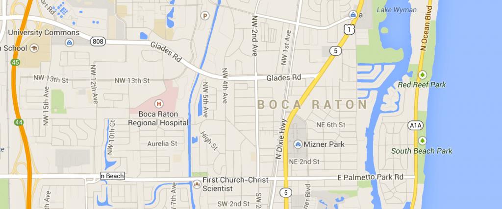 Map Of Boca Raton Fl | Compressportnederland - Boca Delray Florida Map