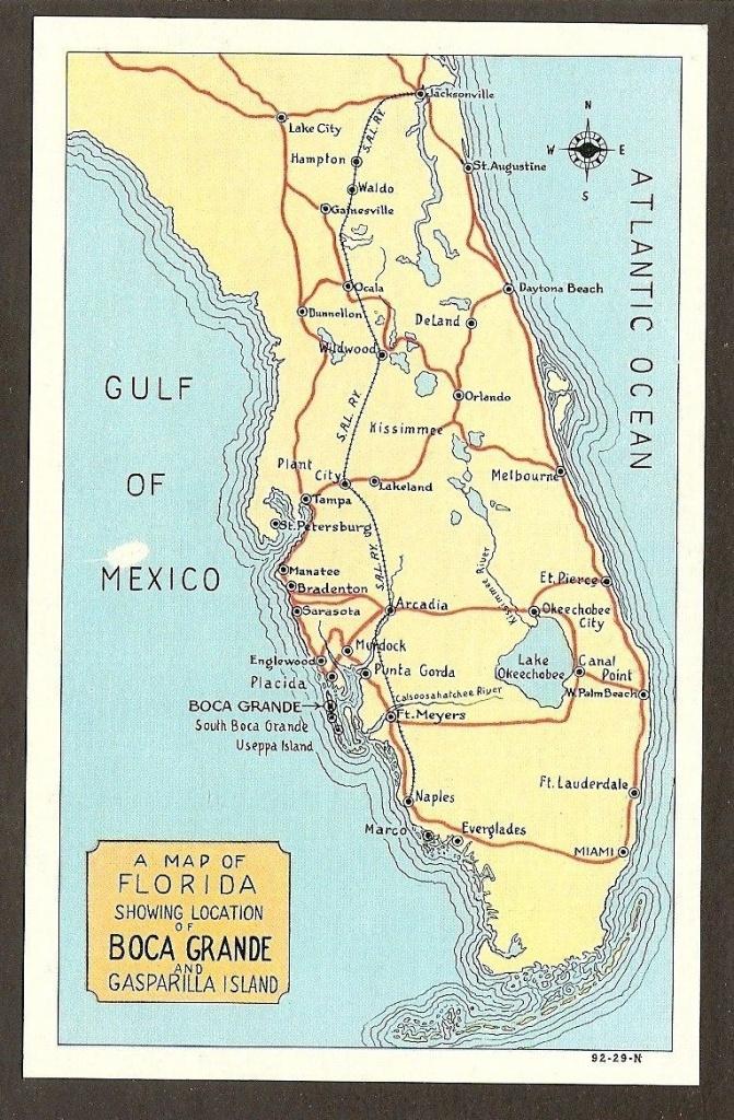Map Of #bocagrande | Aa One Day | Gasparilla Island, Boca Grande Y - Punta Gorda Florida Map