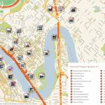 Map Of Brisbane Australia   World Wide Maps   Brisbane City Map Printable