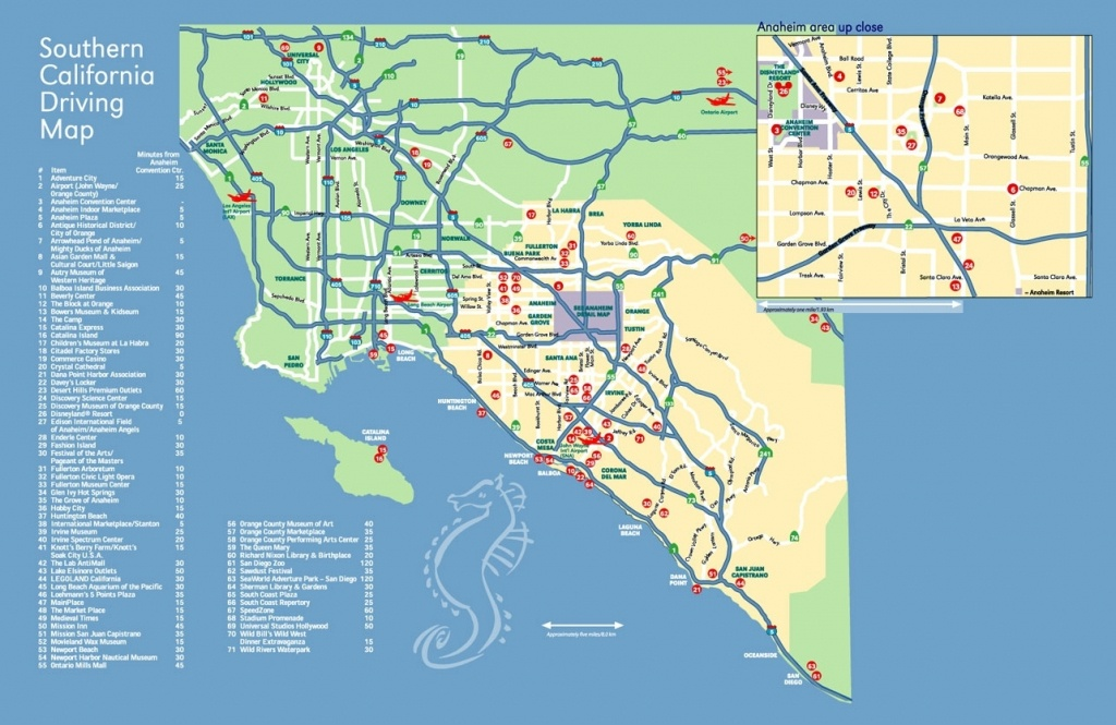 Map Of California And Anaheim – Map Of Usa District - Anaheim California Map