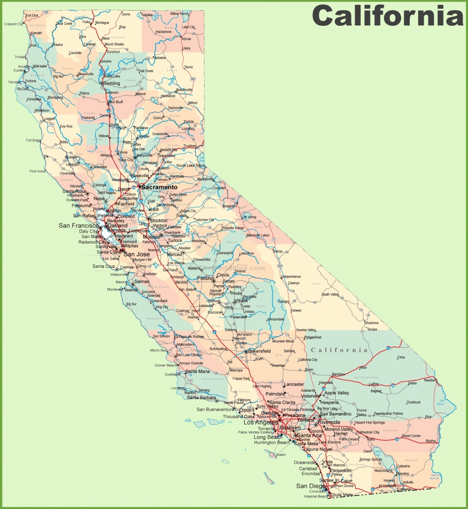 Map Of California And Cities   Download Them And Print - California Oversize Curfew Map