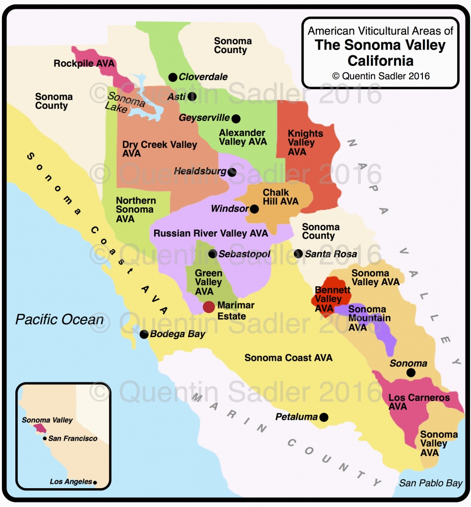 Map Of California Avas California Map Of Cities California Wine - California Wine Ava Map