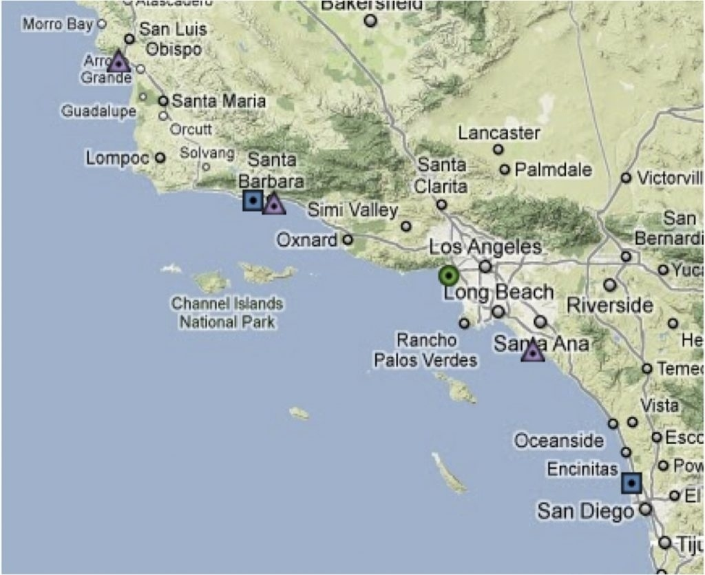 Map Of California Beaches And Cities – Map Of Usa District - Southern California Beach Towns Map