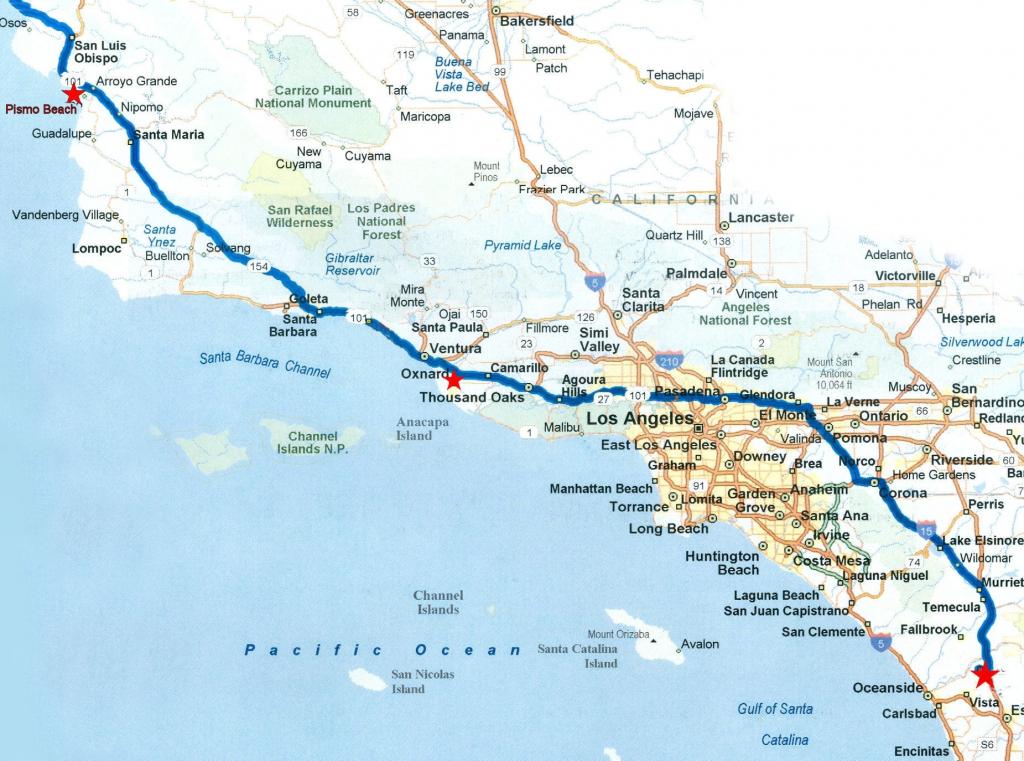 Map Of California Coast To Oregon – Map Of Usa District - Detailed Map Of California Coastline