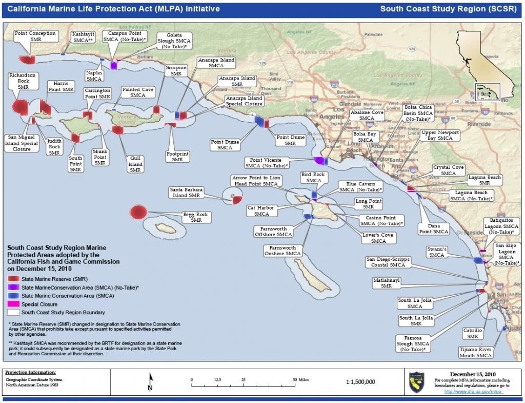 Map Of California. Coastal Map Of Southern California – California - Map Of Southern California Coast