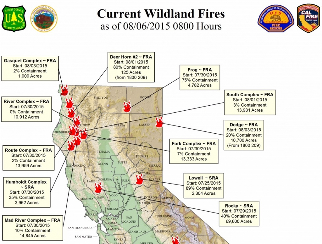 Map Of California Fires Currently Burning   Compressportnederland - Northern California Wildfire Map