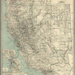 Map Of California, Nevada And Southern Oregon   David Rumsey   Oregon California Map
