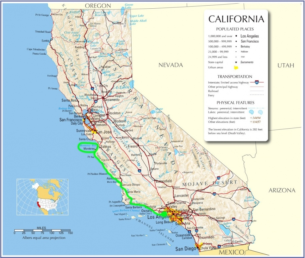 Map Of California Pacific Coast Highway 1 – Map Of Usa District - California Pacific Coast Highway Map