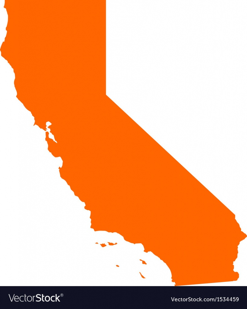 Map Of California Royalty Free Vector Image - Vectorstock - Picture Of California Map