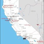 Map Of California Showing The Shooting Location And Other Important   California Destinations Map