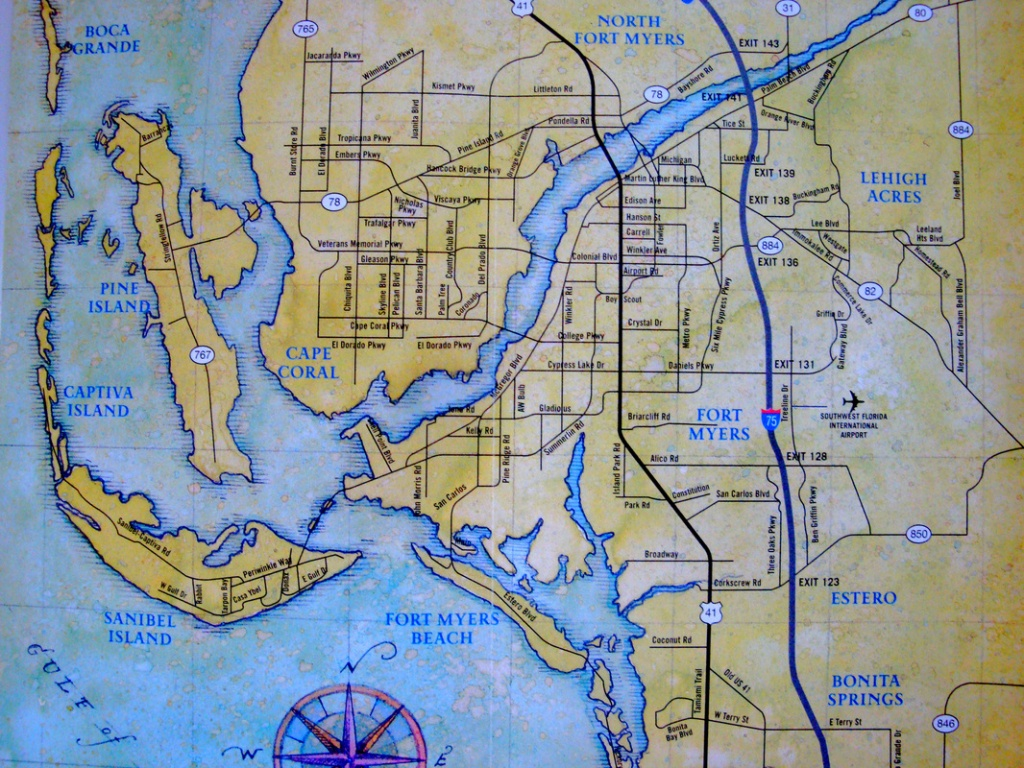 Map Of Cape Coral - Vacation Rentals - Cape Coral & Southwest Florida - Map Of Florida Including Cape Coral