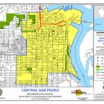 Map Of Central Boundaries | Central San Pedro Neighborhood Council   San Pedro California Map