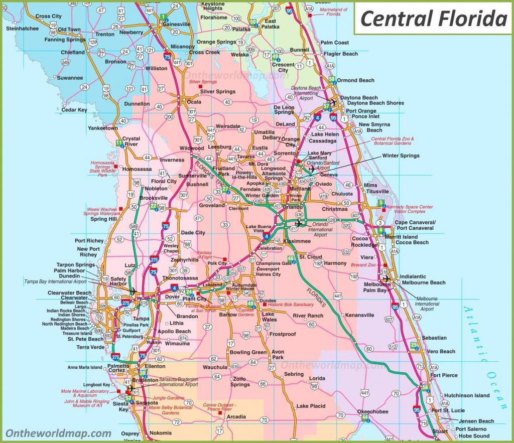 Map Of Central Florida - Map Of Central Florida