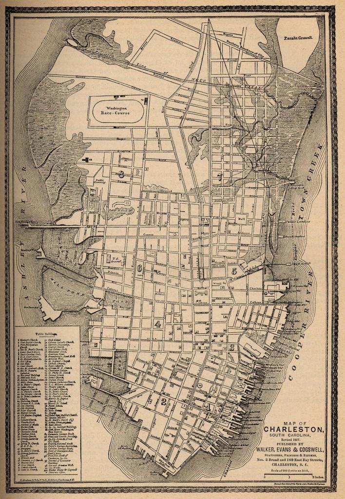 Map Of Charleston In 1877   Charlestonish In 2019   Charleston Sc - Printable Map Of Charleston Sc Historic District