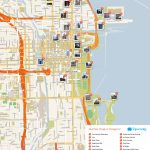 Map Of Chicago Attractions | Dehazelmuis   Chicago City Map Printable