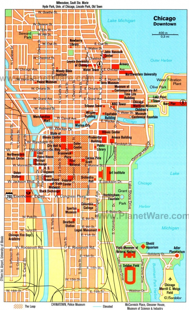 Map Of Chicago Attractions | Dehazelmuis - Map Of Chicago Attractions Printable