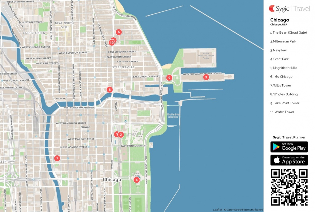 Map Of Chicago Printable Tourist 87318 Png Filetype   D1Softball - Printable Map Of Downtown Chicago Attractions