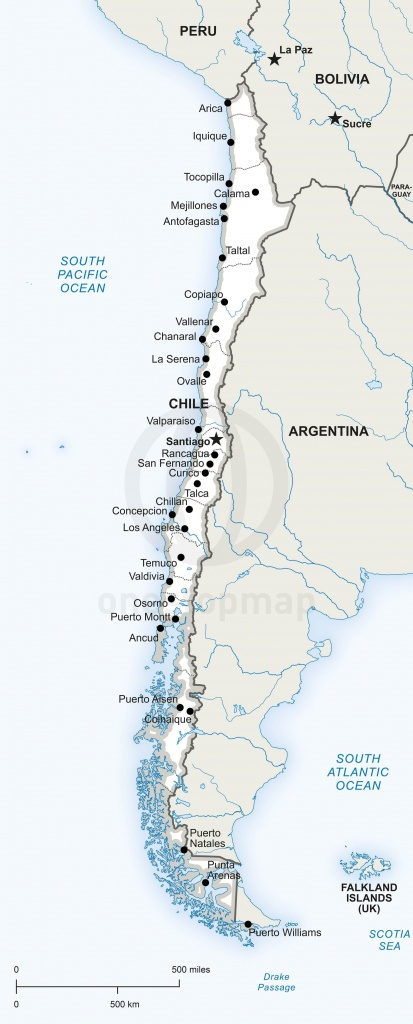 Map Of Chile Political | Maps Of South America - Continent, Regions - Printable Map Of Chile