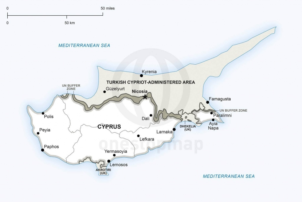 Map Of Cyprus Political - Printable Map Of Cyprus