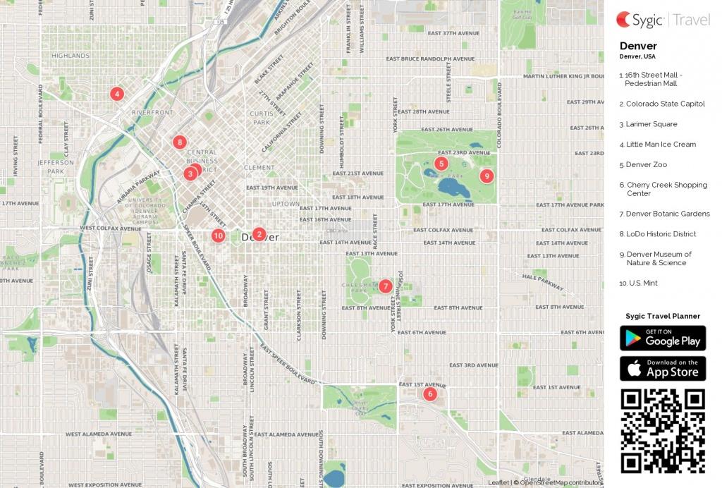 Map Of Denver Colorado Printable Tourist 87217 Png Filetype - Printable Map Of Denver