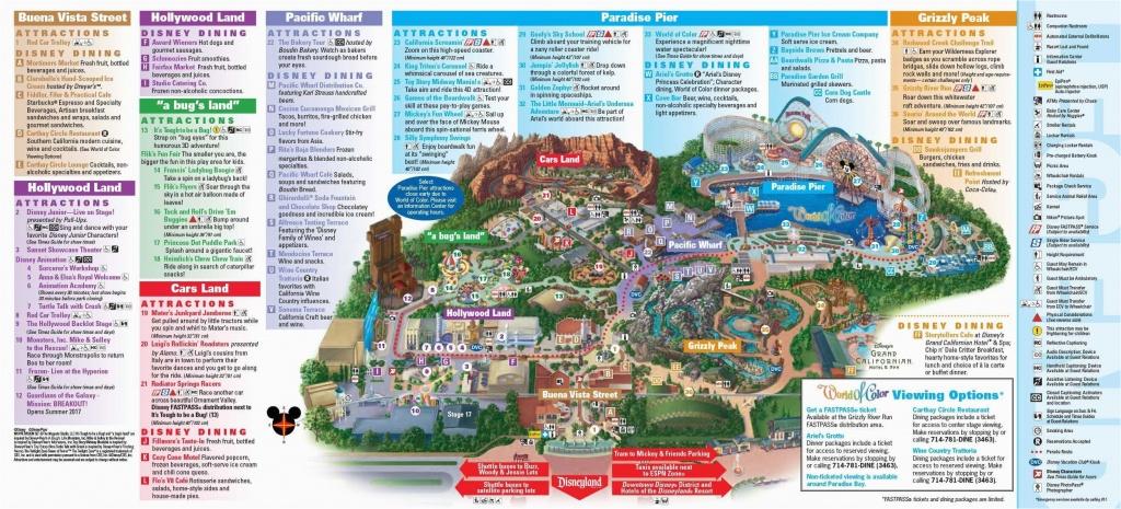 Map Of Disney California Adventure Park   Secretmuseum - California Adventure Map 2017