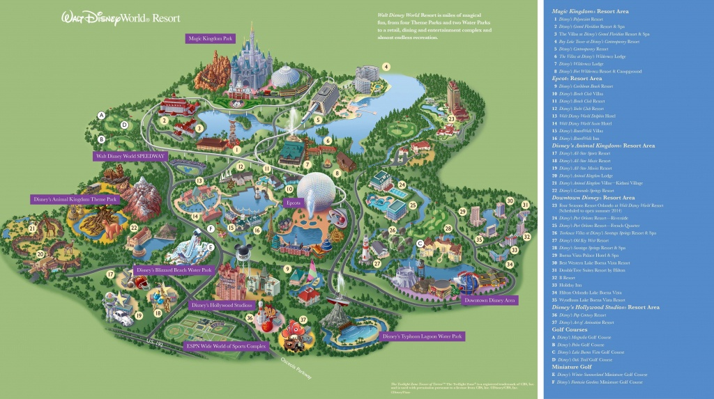 Map Of Disney World Hotels And Theme Parks Google Map Disney World - Printable Disney World Maps 2017