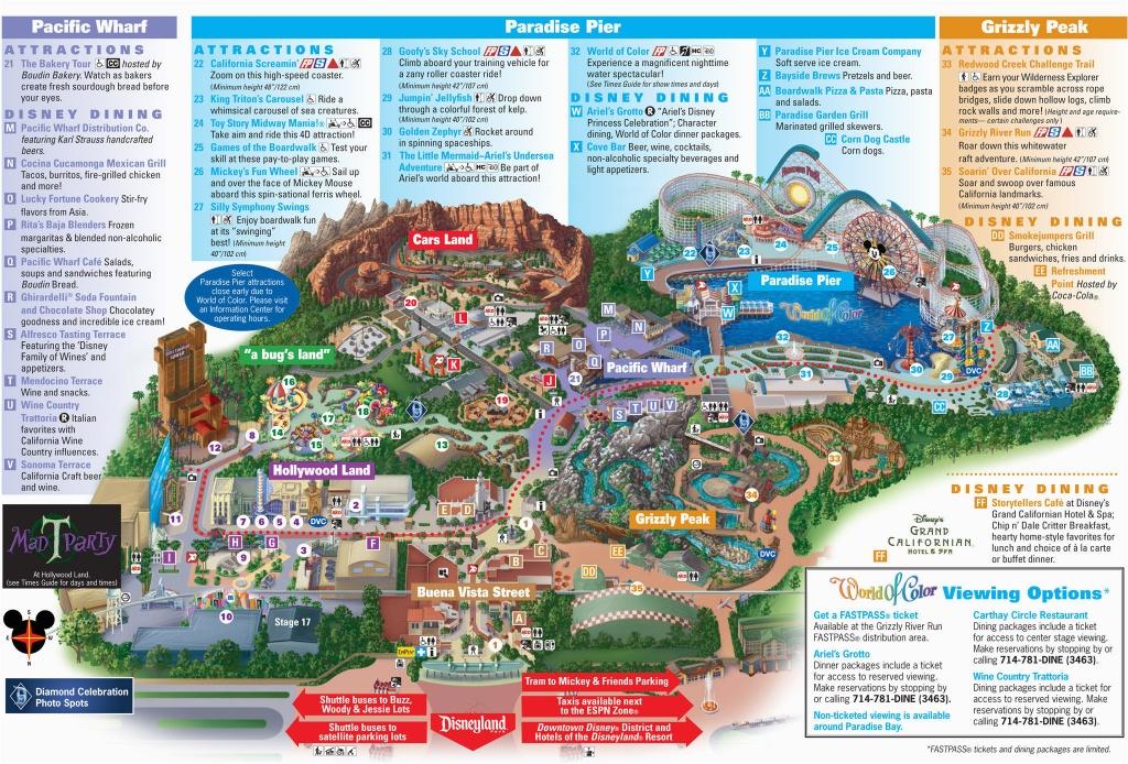 Map Of Disneyland And California Adventure Park   Secretmuseum - California Adventure Map 2017