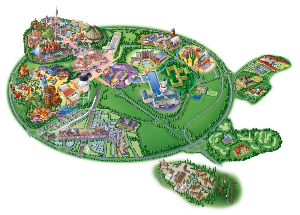 Map Of Disneyland Paris And Walt Disney Studios - Printable Disneyland Paris Map 2018