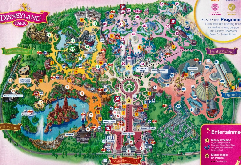 Map Of Disneyland Paris And Walt Disney Studios Regarding Disneyland - Disneyland Paris Map Printable