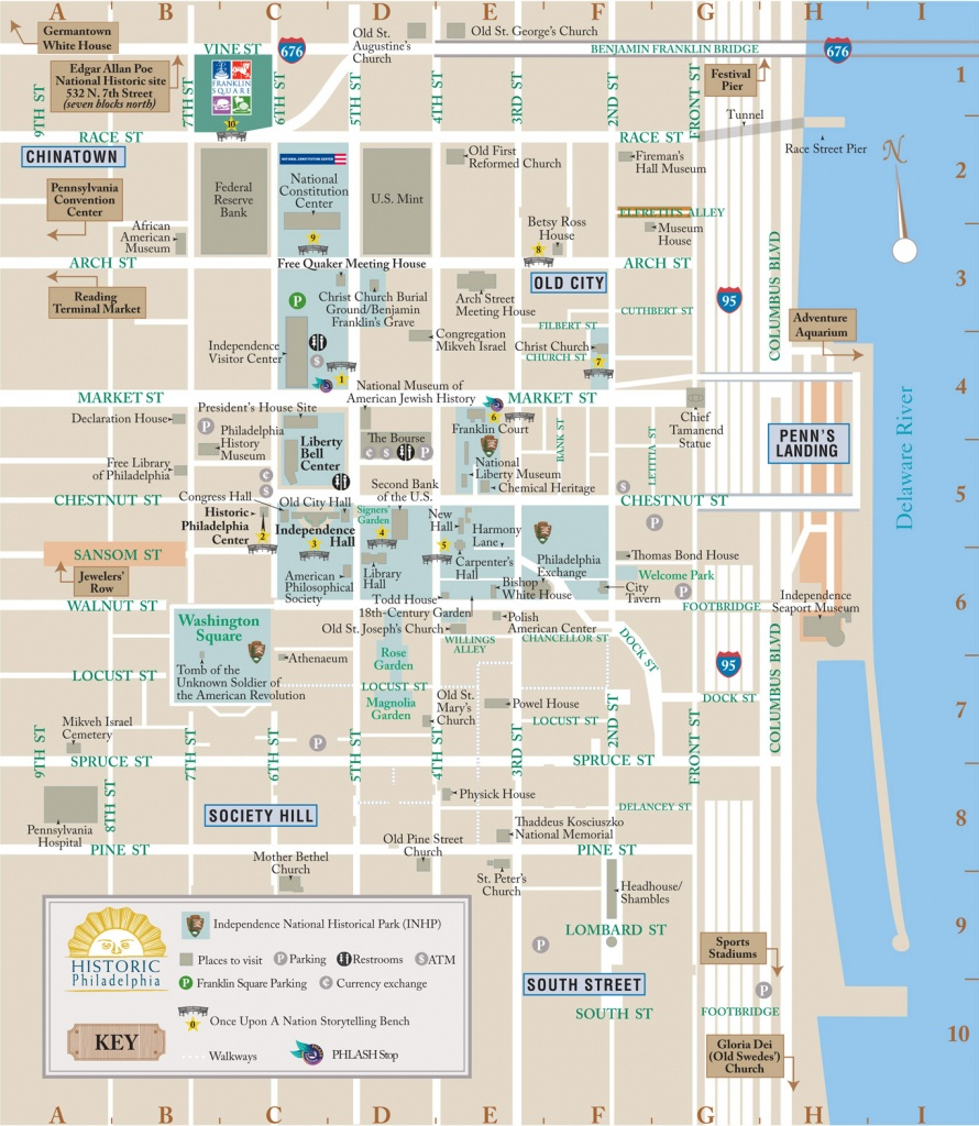 Map Of Downtown Philadelphia And Travel Information | Download Free - Map Of Old City Philadelphia Printable