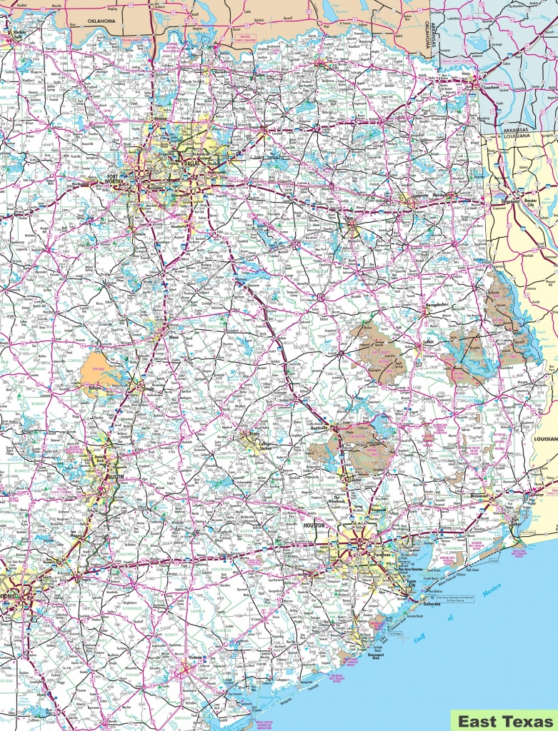 Map Of East Texas - East Texas Lakes Map