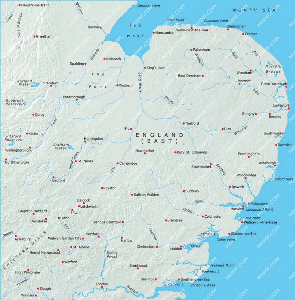 Map Of England East Anglia | Download Them And Print - Printable Map Of East Anglia