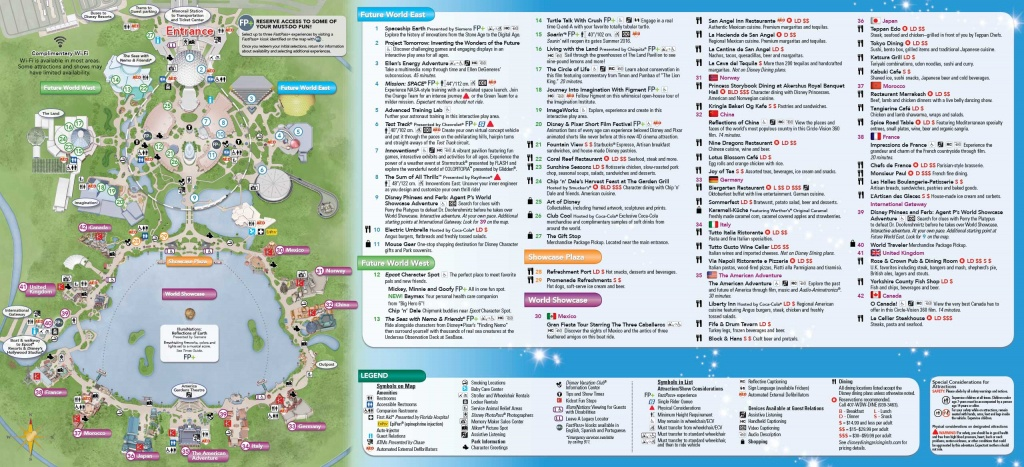 Map Of Epcot Hotels | Download Them And Print - Printable Epcot Map 2017