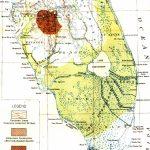 Map Of Everglades Drainage, 1913   Florida Everglades Map