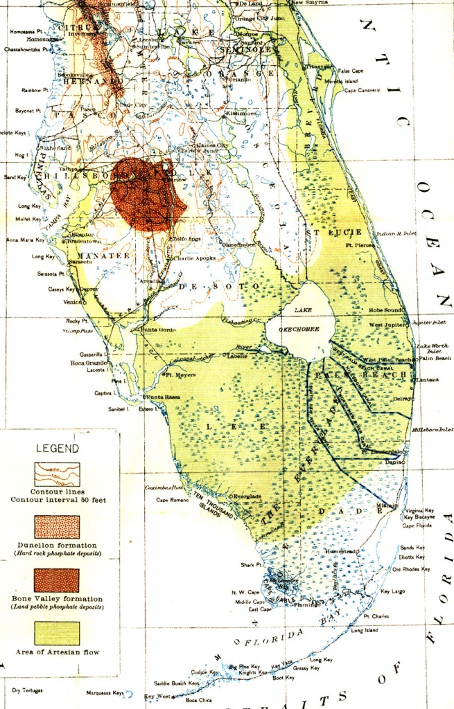 Map Of Everglades Drainage, 1913 - Florida Everglades Map