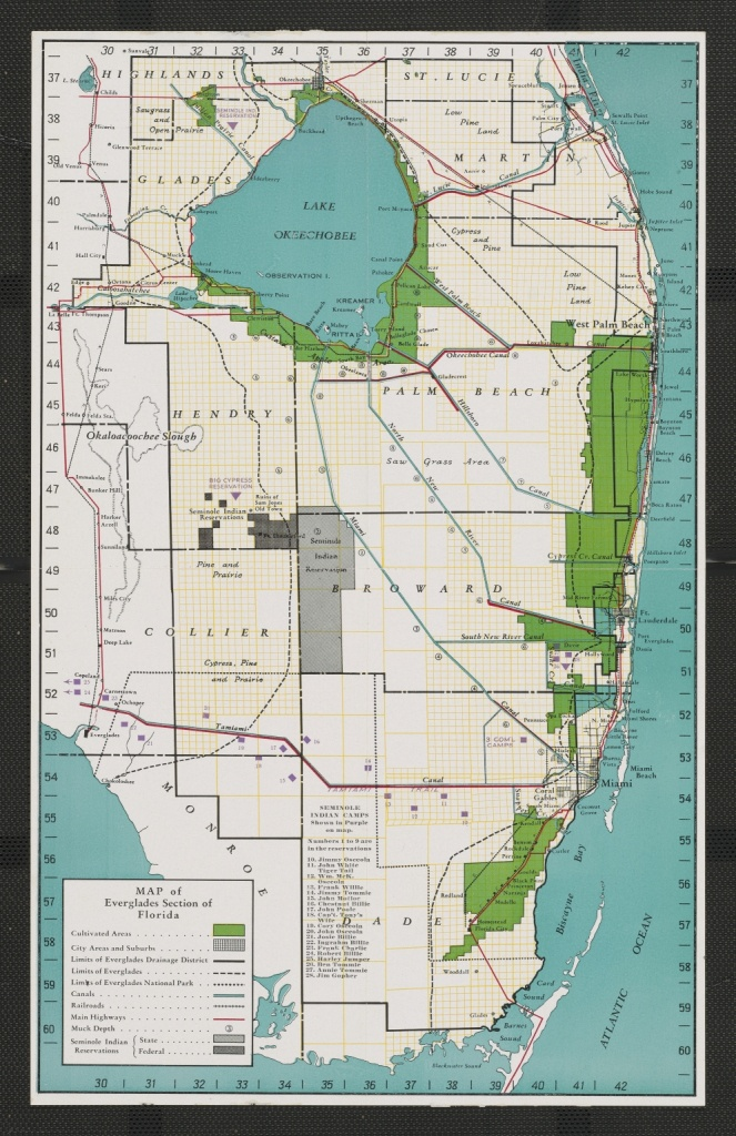 Map Of Everglades Section Of Florida - Touchton Map Library - Florida Section Map