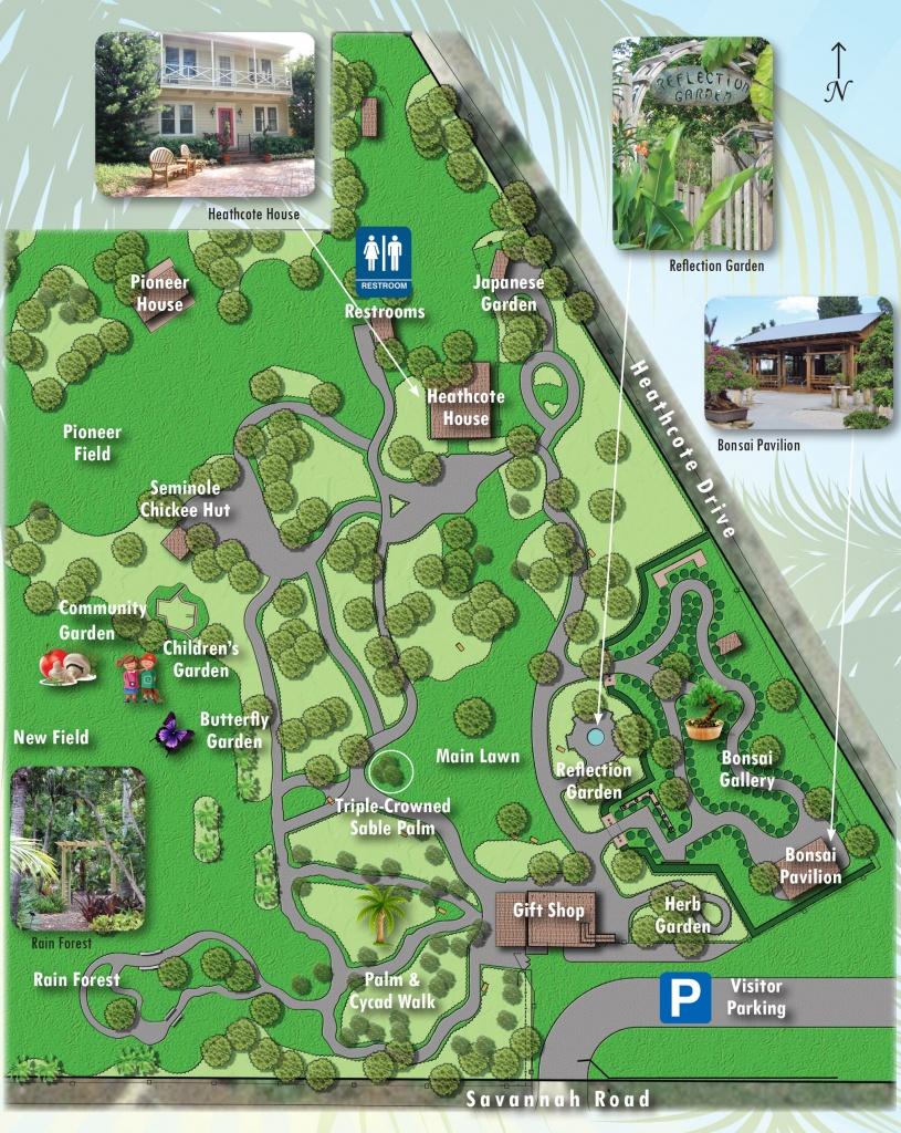 Map Of Exhibits - Heathcote Botanical Gardens - Florida Botanical Gardens Map