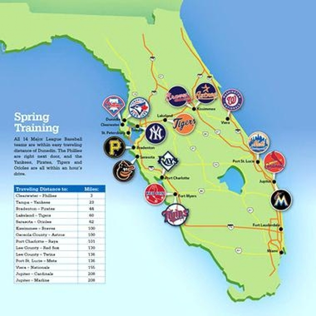 Map Of Fl Spring Training Sites   Download Them And Print - Florida Spring Training Map