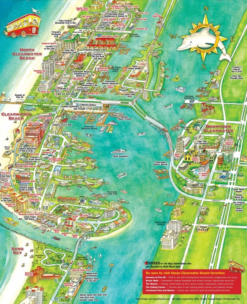 Map Of Florida Beaches Near Tampa 1 | Globalsupportinitiative - Map - Map Of Florida Showing Tampa And Clearwater