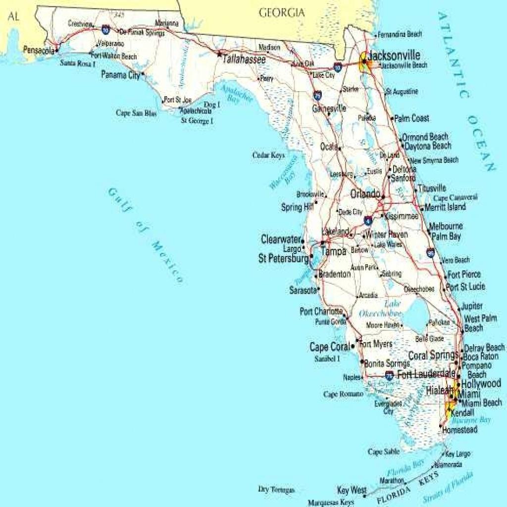 Map Of Florida Coastline - Lgq - Map Of Florida Beach Towns