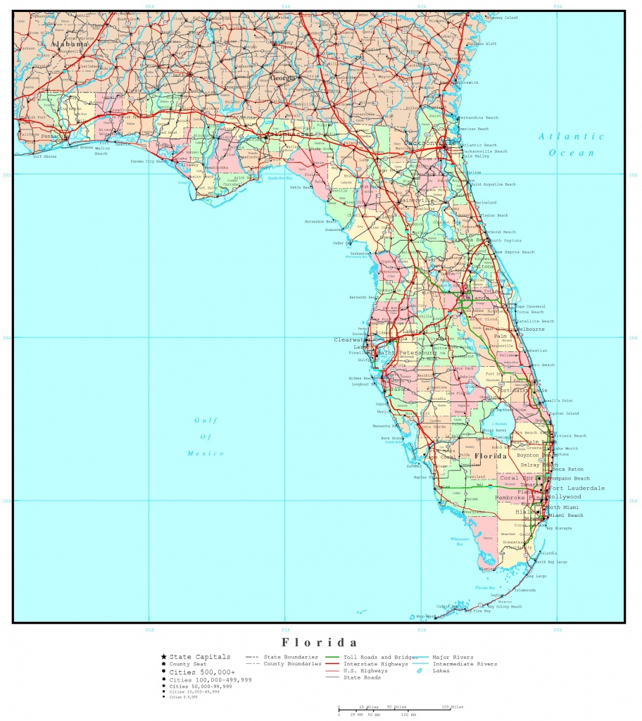 Map Of Florida Georgia And Travel Information | Download Free Map Of - Road Map Of Georgia And Florida