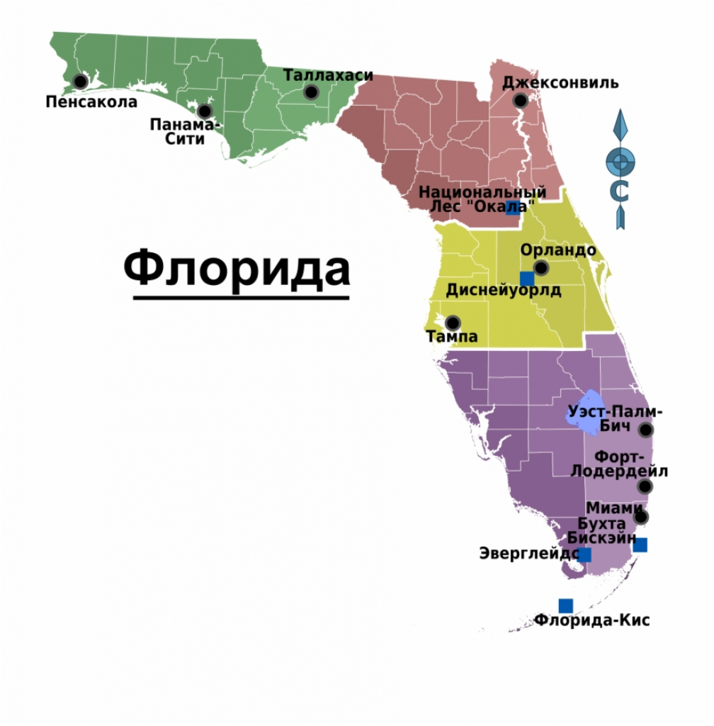 Map Of Florida Regions With Cities - Panama City Florida Mapa Free - Panama Florida Map