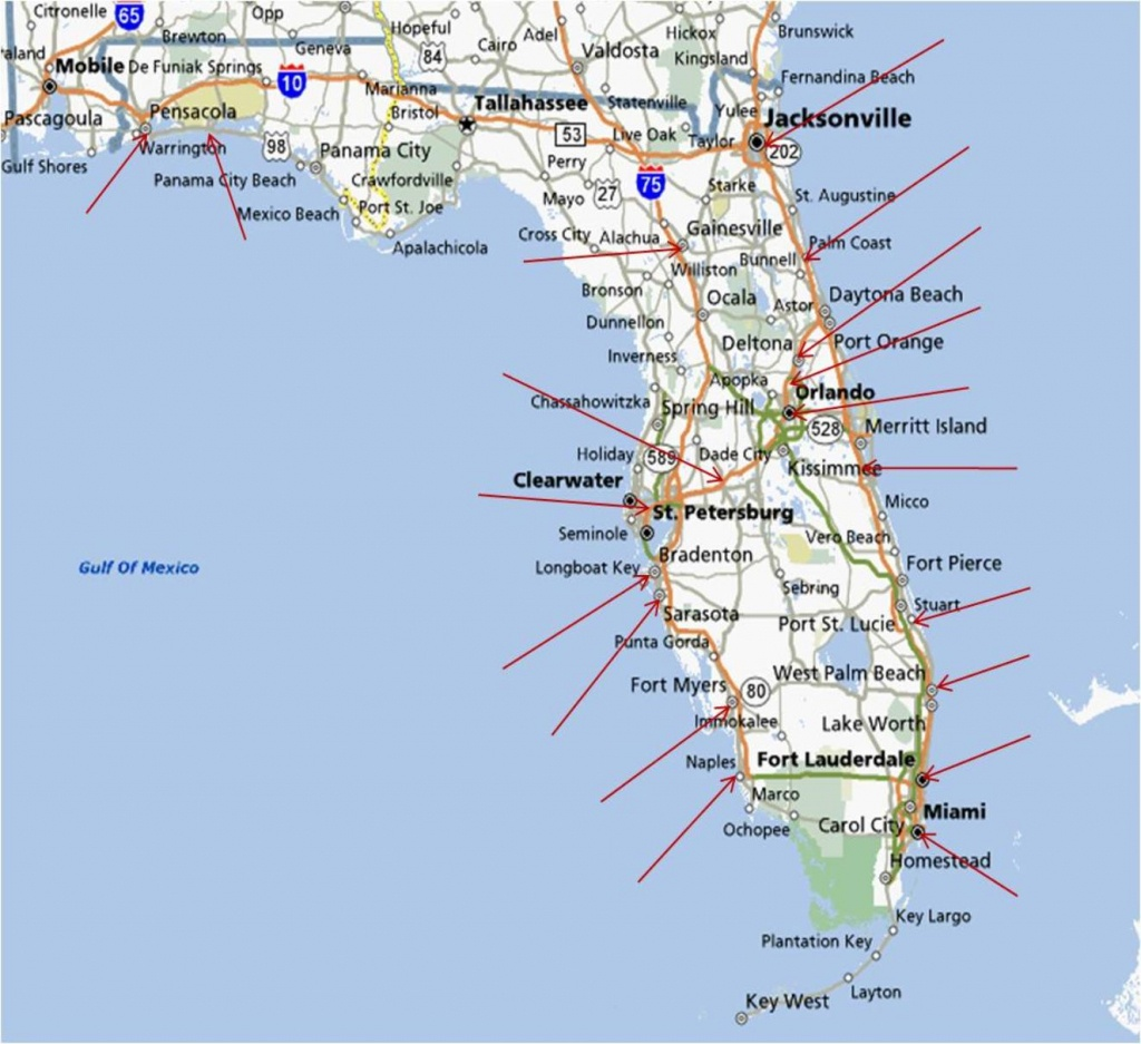 Map Of Florida Running Stores - Sarasota Beach Florida Map