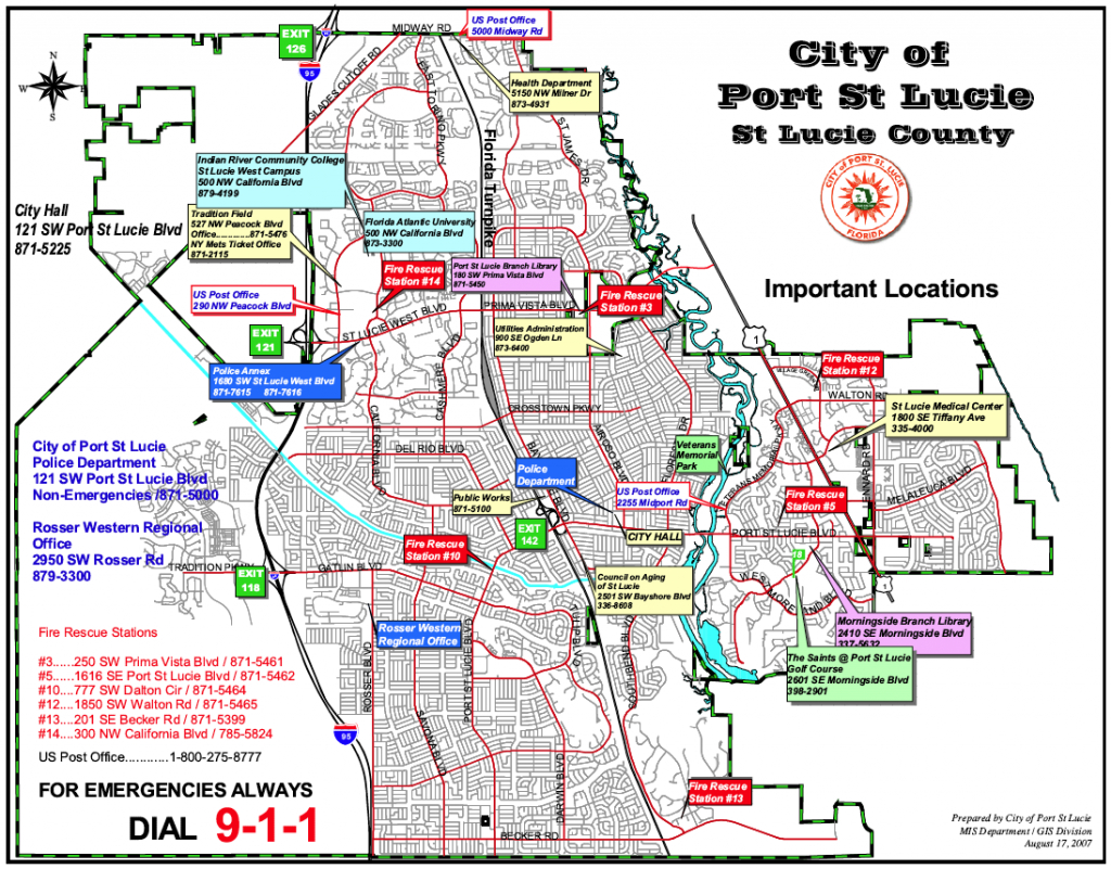 Map Of Florida Showing Port St Lucie | Autobedrijfmaatje - Florida Map With Port St Lucie